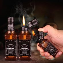 (No Gas) Whisky Wine Bottle Car Ornament Accessories Cigarette Lighter Cigar Car Decoration Creative Fun Shape For Smoking(China)