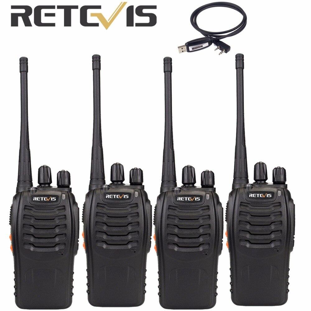 bilder für 4 stücke Walkie Talkie Retevis H777 mit Einem Kabel UHF 400-470 MHz 16CH Transceiver CB Tragbare Ham Radio Comunicador A9105A