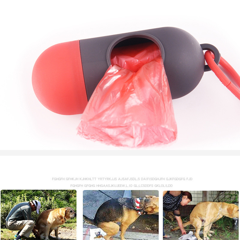 Bags Clean-Dispenser-Box Scoop Cat Poop Small-Light Pet-Dog New For 15pcs/Roll