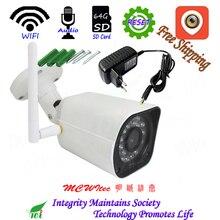 Жесткий фирмы металла IP Cam ночного видения ИК CCTV 128 г SD карты RTSP открытый сброс XM аудио Wi-Fi ip-камера 1080 P 720 безопасности камера P2P сигнализации