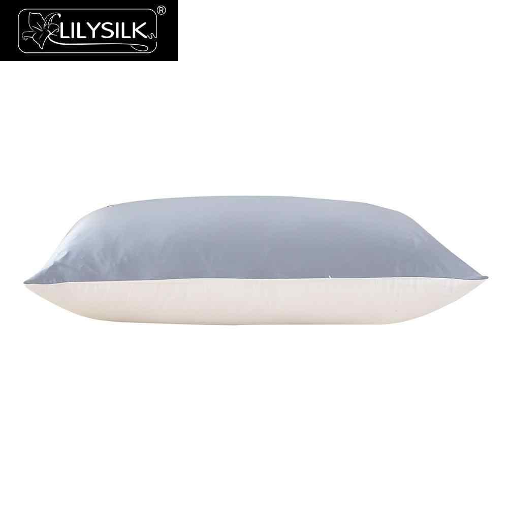 Lilysilk seda fronha com algodão para o cabelo 100 puro natural luxo escondido zíper terse amoreira hipoalergênico frete grátis