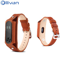 Replacement Mi Bands 2 Genuine Leather Strap Smart Band Bracelet Replace Strap For Xiaomi Mi Band