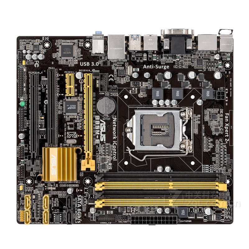Asus B85M-E Desktop Motherboard B85 Socket LGA 1150 i3 i5 i7 DDR3 32G ATX UEFI BIOS Original Used Mainboard On Sale asus p8b75 m lx desktop motherboard b75 socket lga 1155 i3 i5 i7 ddr3 16g uatx uefi bios original used mainboard on sale