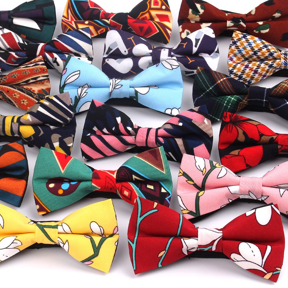 Fashion Men Bow Tie Classic Print Bowtie For Men Business Wedding Adult Floral Bow Ties Butterfly Suits Cravats Bowties