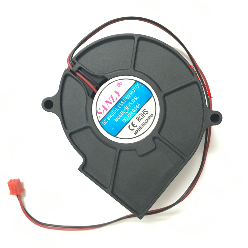 Blower cooler cooling fan sanly sf7530sl dc brushless fan for Sanly dc brushless fan motor