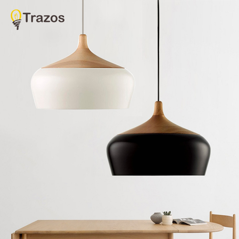 TRAZOS LED Hanglamp Vintage Loft Pendant Lights/Pendant Lamps Aluminum Suspension luminaire Wood Hanging Lightings Kitchen