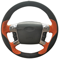 DG Orange Leather Black Suede Car Steering Wheel Cover for Ford Mondeo 2007-2012 Mk4