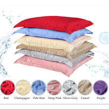 free shipping/100% silk pillowslip ,pillow case,pillow cover,many colurs/ cheap/good quality/ls1503 цена и фото