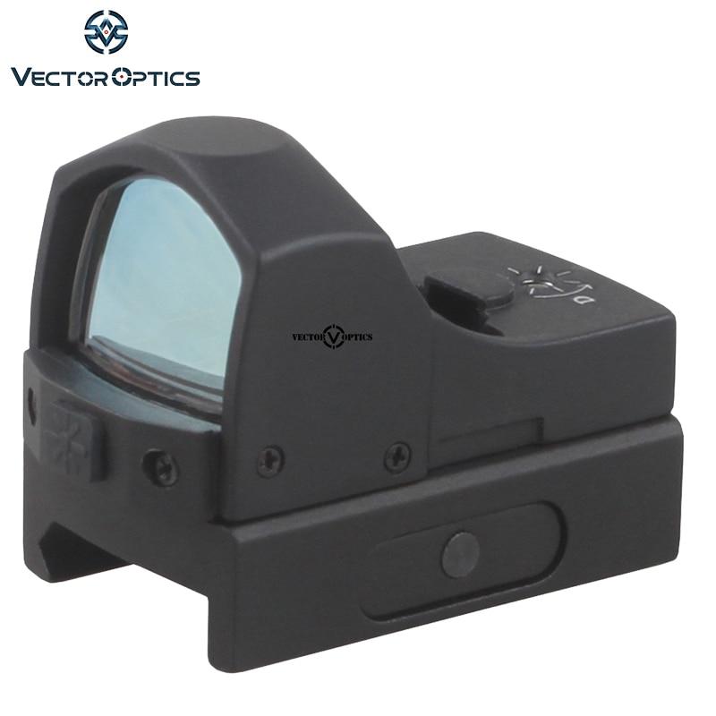 Vector Optics Sphinx 1x22 Mini Reflex Compact Green Dot Sight Scope / Very Light with 20mm Weaver Mount Base vector optics tactical harrie 1x22 mini red dot scope reflex pistol weapong gun sight with 21mm picatinny mount base