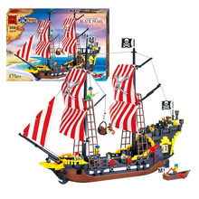 870pcs Pirates Black Pearl Battle Ship 3D Construction Brick Educational Toys Kids Gift Building Block Set Compatible With Legoe
