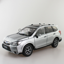 New Silver 1/18 FORESTER 2015 Die-Cast Model Car Miniature Model SUV Off Road Vehicle Out of Print Model