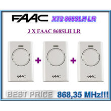 3 Pieces For FAAC XT2 868 SLH LR remote control white 868,35MHz Rolling code,not support cloning(China)