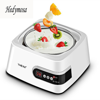 Automatic Multi-Function Yogurt Makers Natto Rice Wine 1.3L Liner Microcomputer Control 304 Stainless Steel 220-240V 15W lstachi 1 5l electrical full automatic fermentation multifunction yogurt rice wine natto maker in kitchen appliances
