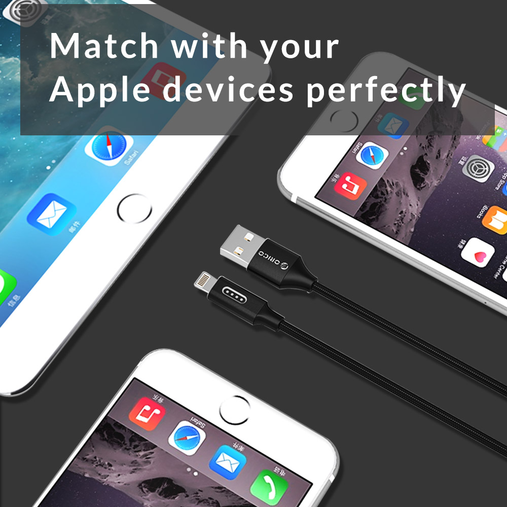 ORICO USB for Apple Cable For iPhone 6 6s 7 Denim USB Cable Fast Charger Data Cable for Apple iPhone 5 5s iPad Air Mini Cable