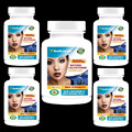 Glutatión Comple x 5000 mg Pastillas de Aligeramiento de La Piel Natural Para Blanquear Anti-Envejecimiento Más atractivo a sus hombres-5 botellas