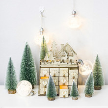 Christmas Ball Ornament Warm Waterproof LED Globe String Light Led Snow Crystal Family Party Tree Decoration E