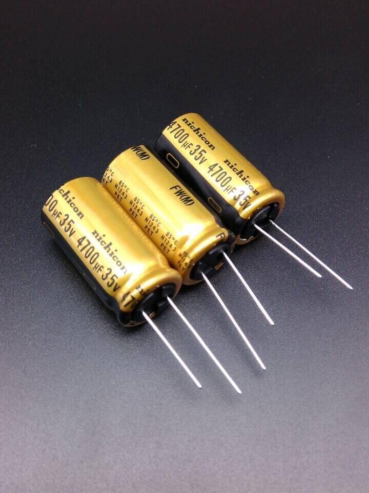 30PCS Nichicon FW 4700uF/35V genuine stock 4700uf 35v for capacitor 18*35.5 free shipping