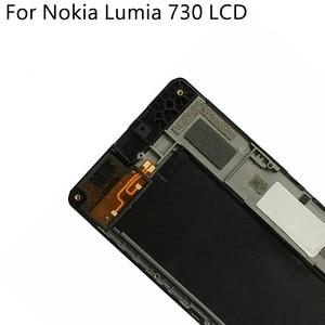 Image 5 - OLED originale Per Nokia Lumia 730 RM 1038 LCD Display Touch Screen Con Cornice Digitizer Assembly di Ricambio Testati Al 100%