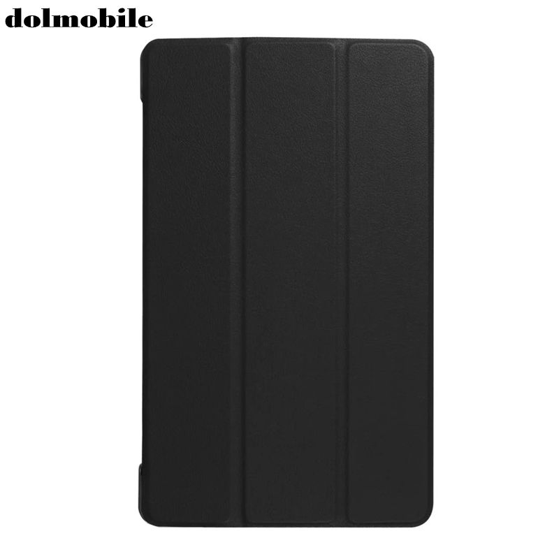dolmobile Ultra Slim Tri-Fold PU Leather Case Stand Cover for Lenovo Tab 3 Tab3 8 Plus P8 TB-8703 TB-8703F TB-8703X TB-8703N 8 silicon cover case for lenovo tab 3 8 plus 8703x tb 8703f tb 8703n 8 0tablet pc tab3 tb 8703 protective case free 3 gifts