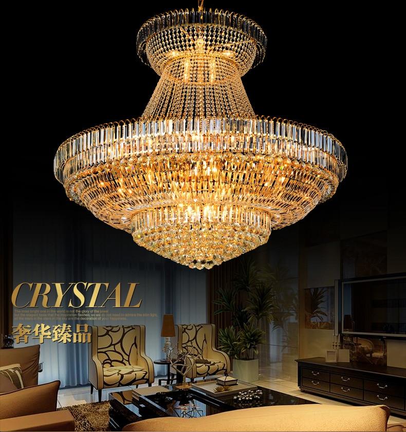 LED Moderno Lustres de Cristal de Ouro Luminária Redonda de Luxo - Iluminação interior - Foto 3