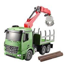 RC Truck 2.4G High Speed Car Electric Model Crane Truck Simulated lights toys For Children Birthday Gifts(China)