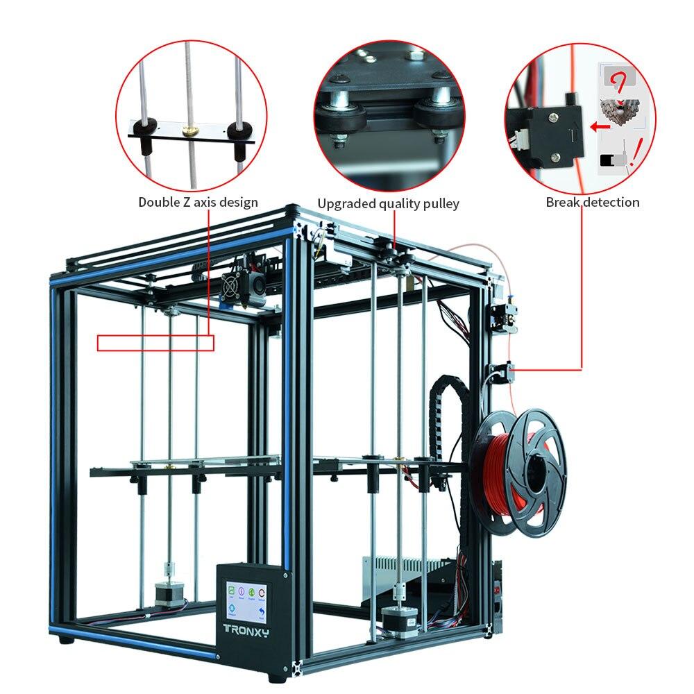 Новейший обновленный 3D принтер Tronxy X5SA, сенсорный экран, автоматический Выравнивающий датчик накаливания, Hotbed, размер 330*330 мм, 2019