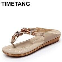 TIMETANG Summer Women Ethnic Bohemia Flat Sandals Shoes Woma