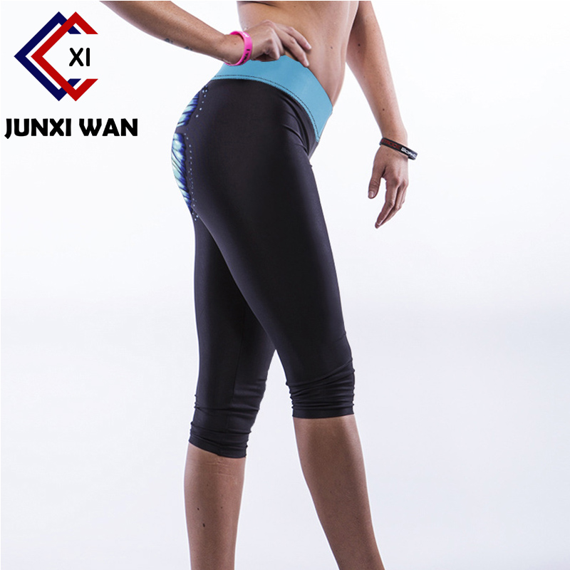 Womens Capri Pants Sport Yoga Pants High Waist Workout