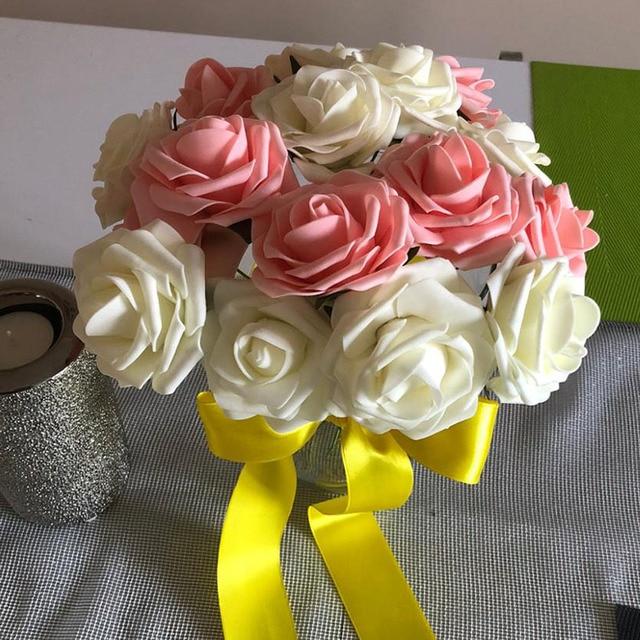 10Pcs PE Foam Rose Artificial Flower For Wedding