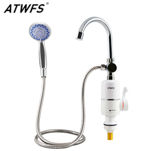 ATWFS Shower Water Heater Faucet Electric Hot Tankless Water Heater Tap Fast Heating Bathroom Heaters 3000W 220V