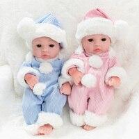 45cm Lifelike Reborn Baby Doll 14.5 Inch Soft Silicone Vinyl Doll Newborn Dolls soft Lovely Baby Toys for Girls Toys