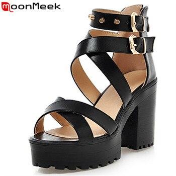 6436f1b49db9 MoonMeek/Новое поступление 2018 года; женские босоножки; модная летняя  обувь на ...