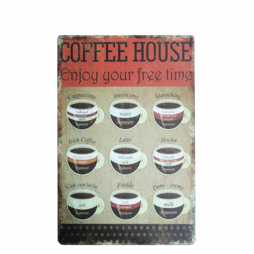 Καφέ Μενού για Cafe Bar Pub Διακόσμηση - Διακόσμηση σπιτιού - Φωτογραφία 4