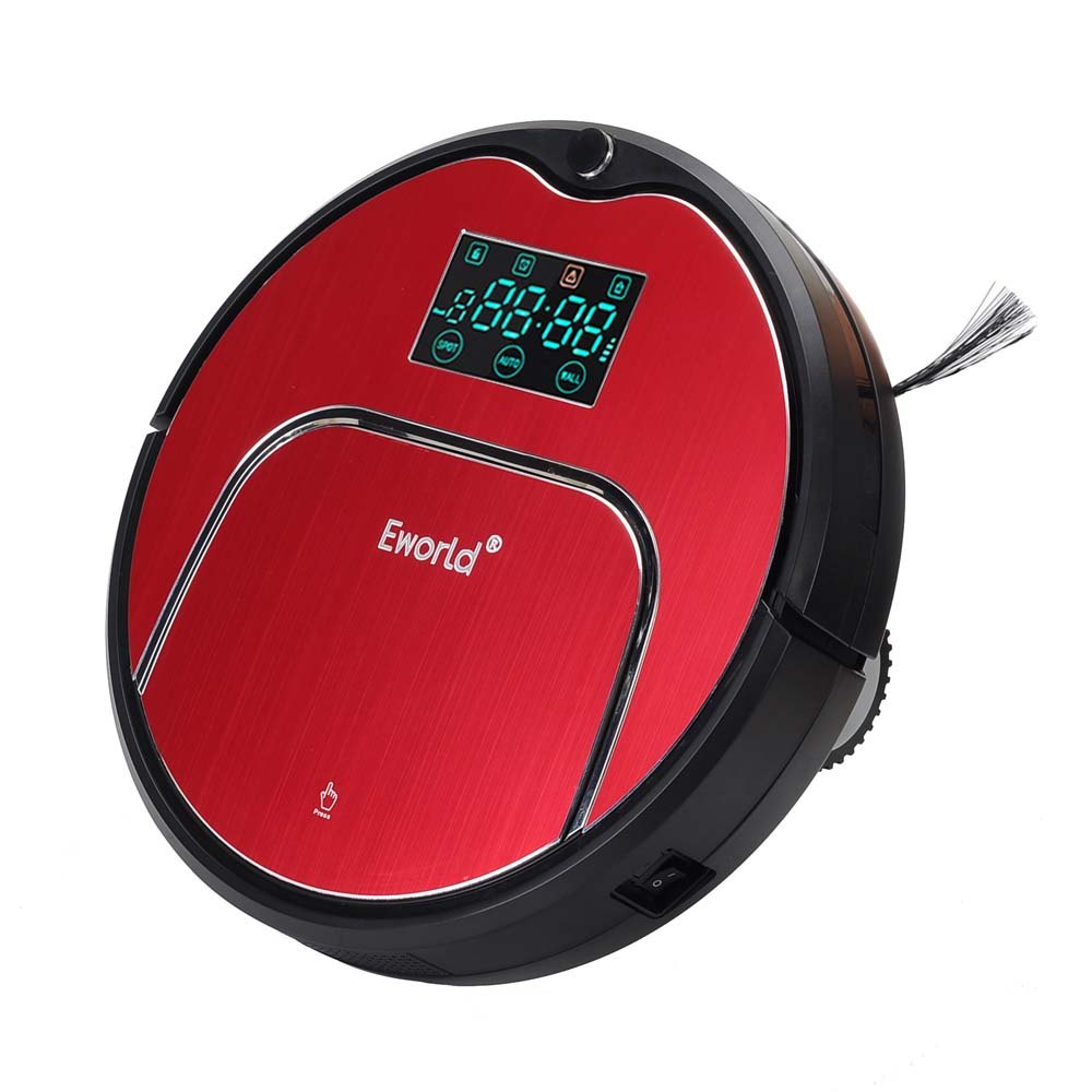 Eworld 2017 Wet Robot Vacuum Cleaner For Home Floor Clean Wet Dry Cleaner Double Filter Self Charge M883 Cordless Robot Cleaner стоимость