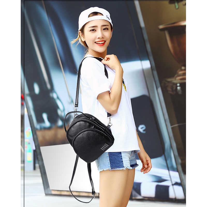 Женский рюкзак из натуральной кожи, сумка на плечо, школьные сумки для колледжа, сумки на молнии, повседневные Рюкзаки