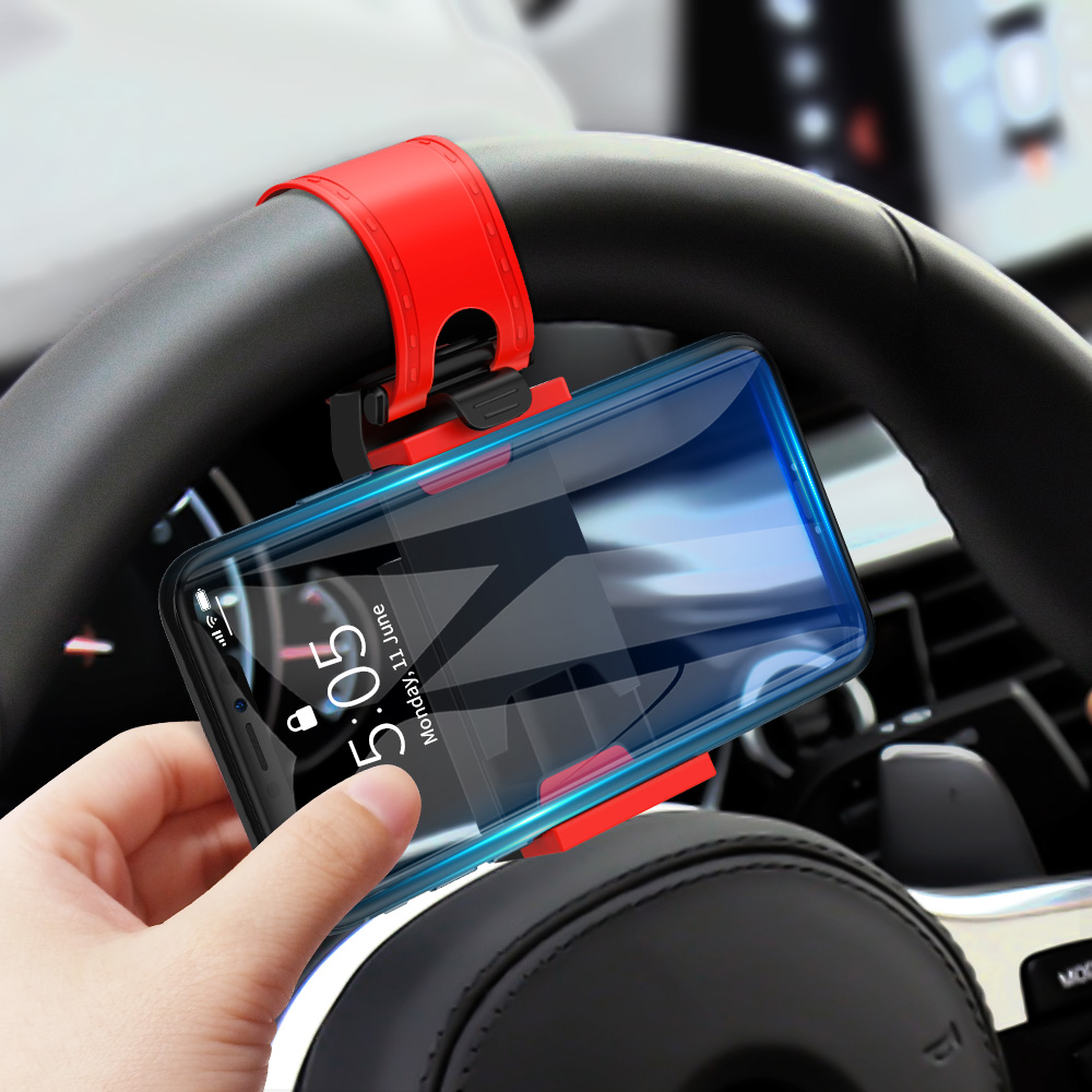 getihu mini car phone holder with air vent steering wheel clip mount for cell phones