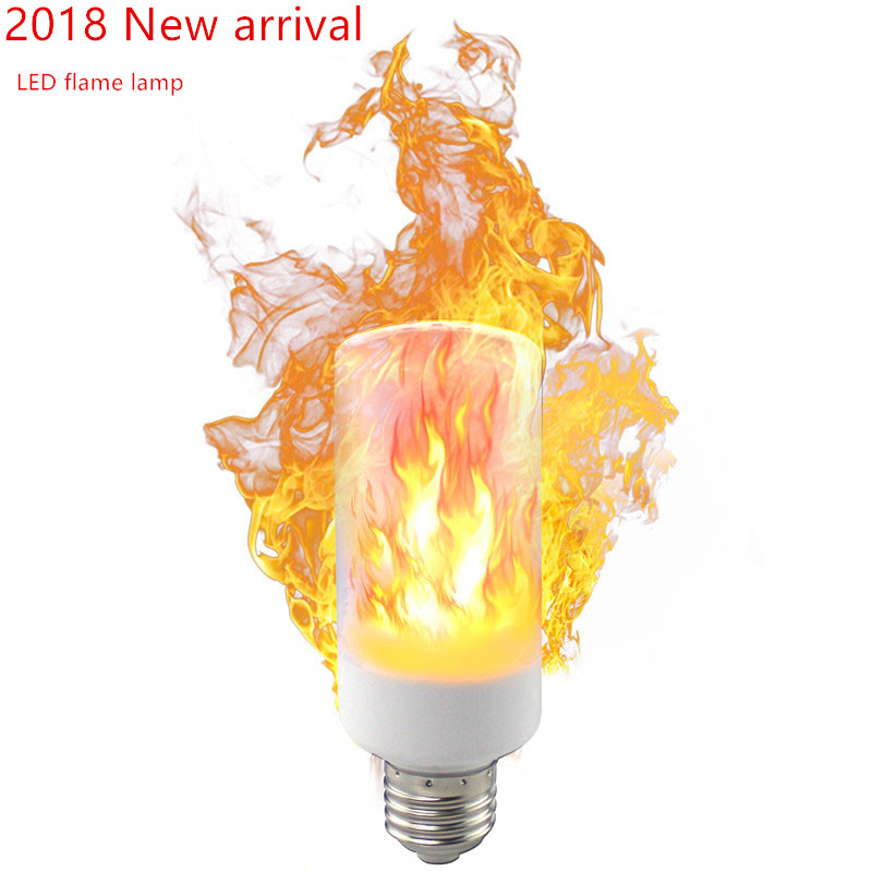 E27 E14 B22 2835 LED Flame Effect Fire Light Bulbs 5W 9W Creative Lights Lamp Flickering