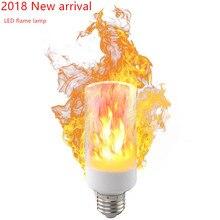 E27 E14 B22 2835 светодио дный эффект пламени огня лампочки 5 Вт 9 Вт творческие огни лампы мерцающий эмуляции Атмосфера декоративные лампы
