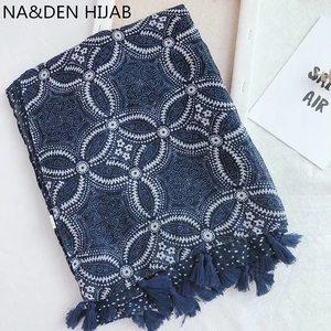 New Fashion High Quality geometric scarf/scarves with tassel hijab fashion Muslim headband popular hijab 10pcs/lot fast shipping