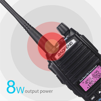 "baofeng uv Band Dual 8W ווקי UV-82 Baofeng 10 ק""מ טוקי FM במקלט נייד / VHF 128CH רדיו CB Ham UHF UV 82 שני הדרך רדיו 2800mAh (3)"