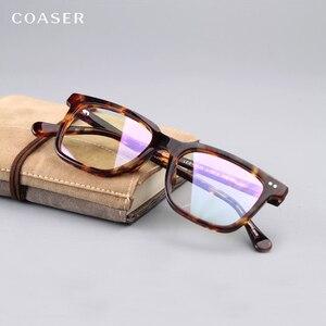 Image 5 - Оправа для очков COASER, Винтажная Версия, для мужчин и женщин, для чтения, для компьютера, оптические очки по рецепту, прозрачные линзы, ретро очки