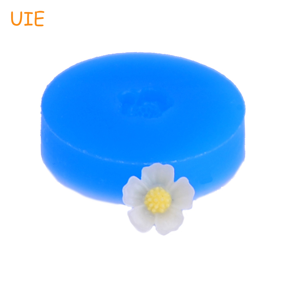 HYL097U 9.4mm Flower Silicone Mold - Cake Decoration Fondant Craft, Scrapbooking, Gum Pate, Candy, Cookie Biscuit, Resin Jewelry