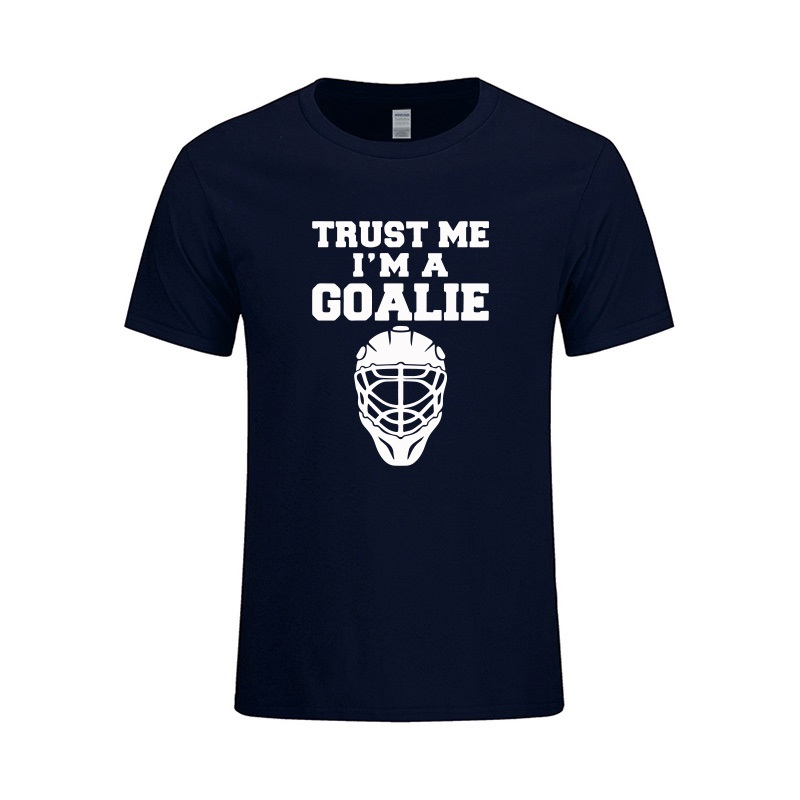 Trust A Goalies Funny T Shirt Geek Birthday Present Gift For Men Husband Boyfriend Brother Son Ice Hockeys Player In Shirts From Mens Clothing