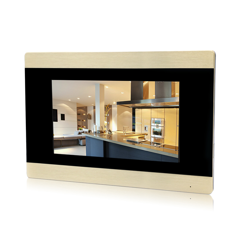JERUAN 720P AHD Motion Detection 7`` Touch Screen Video Door Phone Intercom System Record Monitor + 1.0MP HD Camera+CCTV Camera