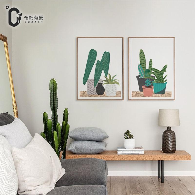 Los sentimientos amorosos de plantas verdes lienzo - Cuadros para la pared ...