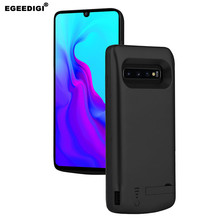 Egeedigi Battery Charger Case For Samsung Galaxy S10e S10 Plus 6000mAh  Battery Case External Power Bank Case With Stand Holder 3500mah rechargeable li ion external battery power case w stand for samsung galaxy s5 black