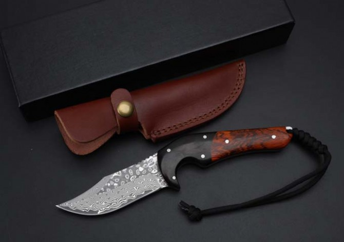 Newest Damascus Hunting Fixed Blade Knives Wood Handle Tactical Knife Outdoor Survival Straight Knives EDC Collect Knives germany wide damascus corrugated hunting tactical knife wootz steel survival knives fixed blade knife horn handle 1996