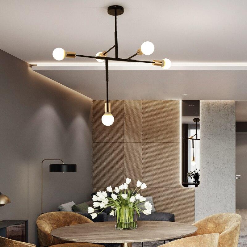 LED lamps Nordic creative personality living room lights bedroom minimalist modern atmosphere restaurant bar molecular Beanstalk