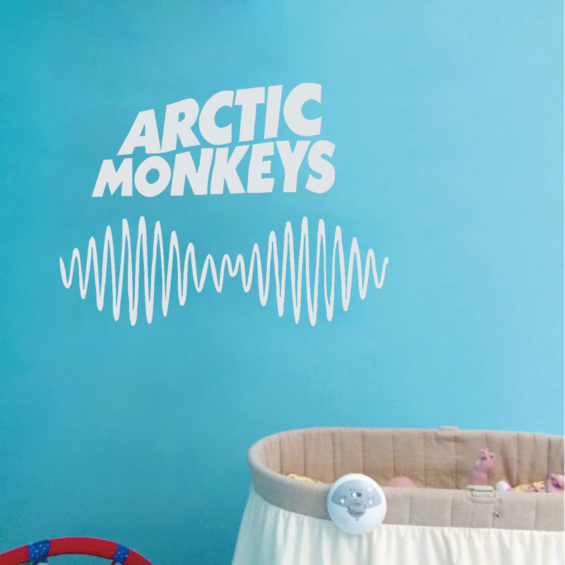 Arctic Monkeys text & Sound Waves Wall Sticker Cutting Dies Gift Home Decor Mural ...