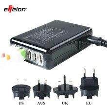 effelon 5V 4A 6 USB Travel Charger Adapter Electrical wall Plug Socket US/UK/EU/AU International Fast Charging socket adapter